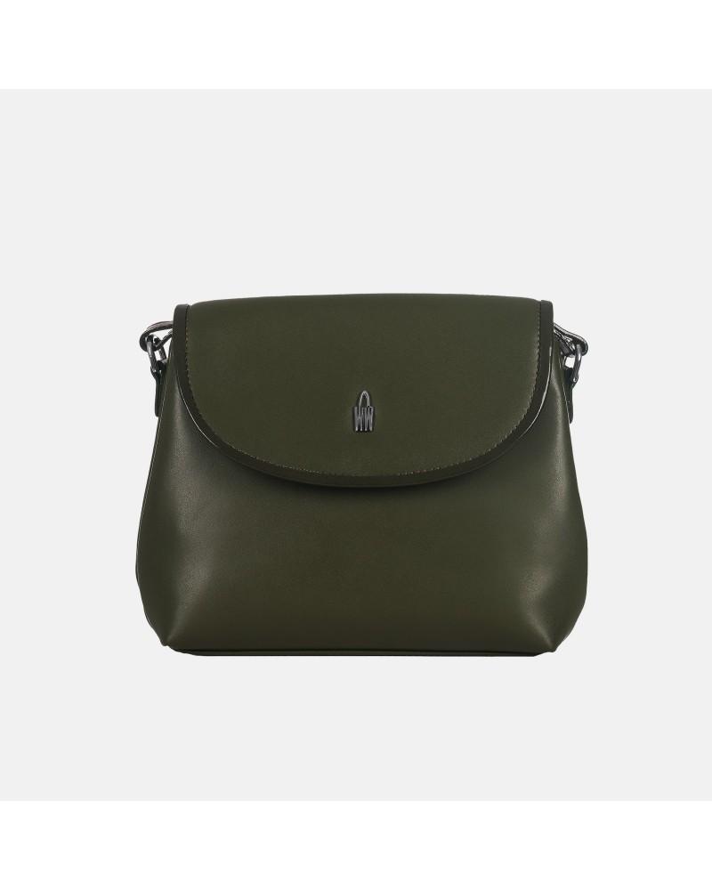 Zielona torebka skórzana