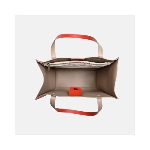 Pomarańcza z cappuccino torebka skórzana