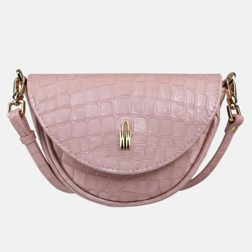 Różowa mała torebka crossbody Merida ze skóry naturalnej dla dziecka