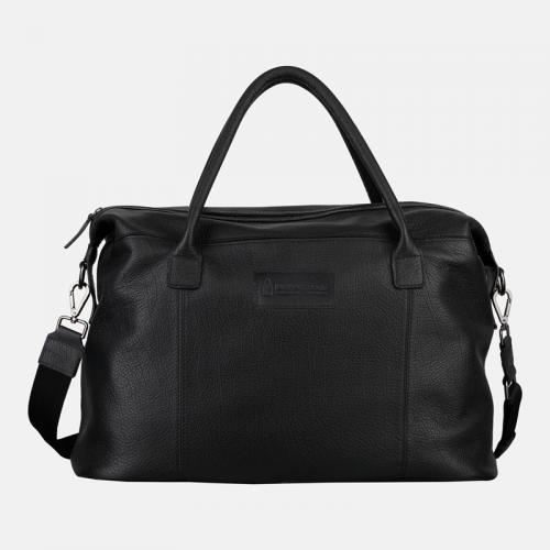 Czarna torba podróżna skórzana