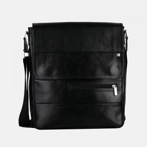 Czarna męska torba skórzana A4
