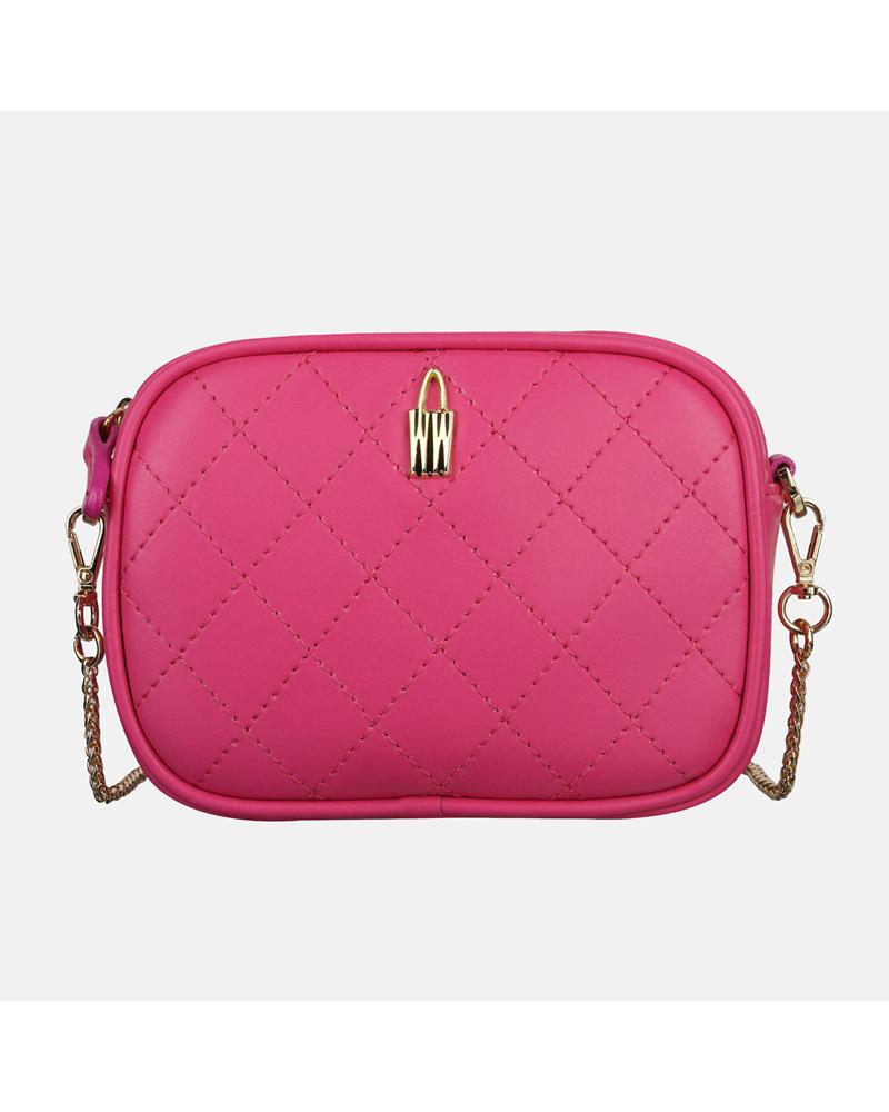 Różowa mała torebka Nel ze skóry naturalnej dla dzieci