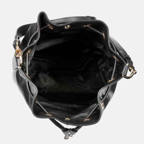 Czarna torebka worek ze skóry