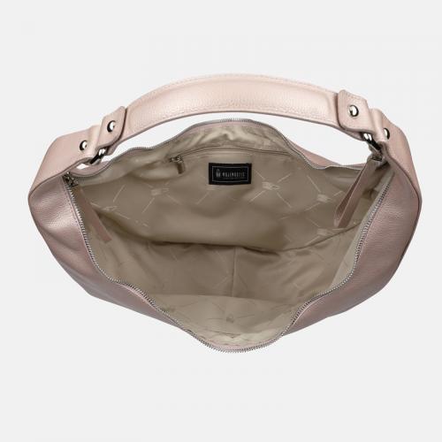 Różowa torebka skórzana Moon