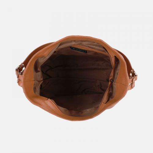 Duża torba skórzana worek w kolorze miodowym