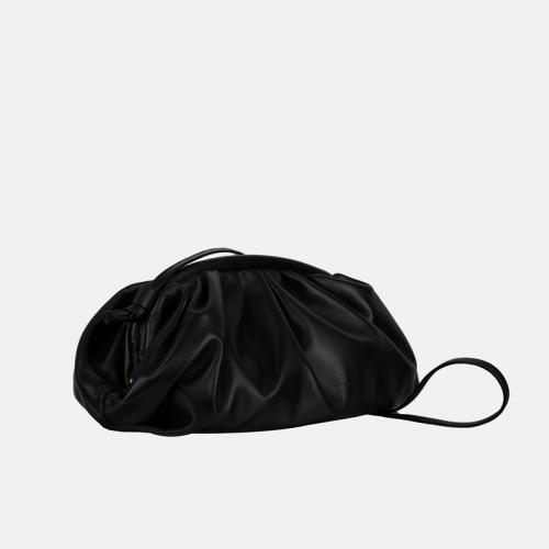 Czarna kopertówka skórzana