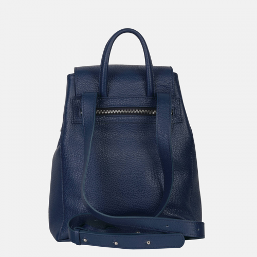 Granatowa torebka damska – plecak ze skóry