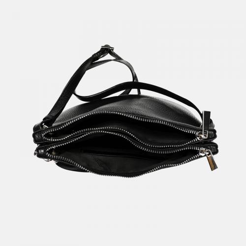 Czarna torebka skórzana