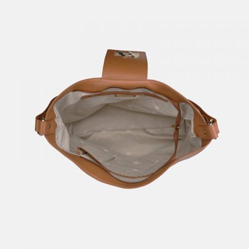 Miodowa torebka skórzana