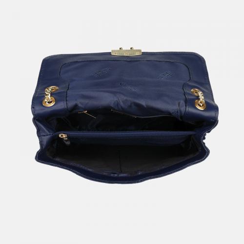 Granatowa torebka skórzana