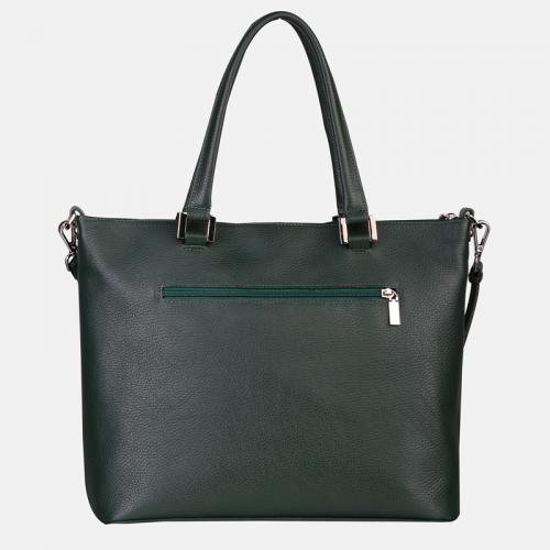 Zielona torebka damska shopper bag skórzana