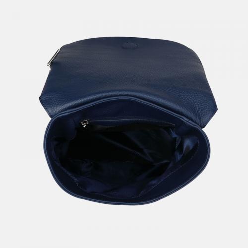 Granatowy damski plecak skórzany