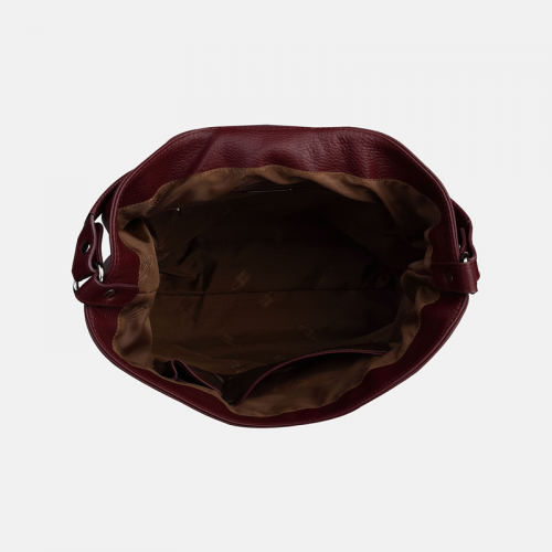 Bordowa torebka skórzana
