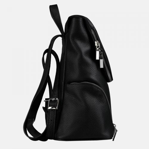 Czarny damski plecak skórzany