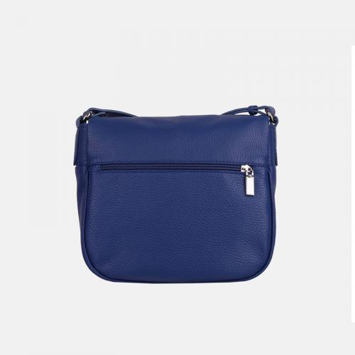 Niebieska torebka skórzana