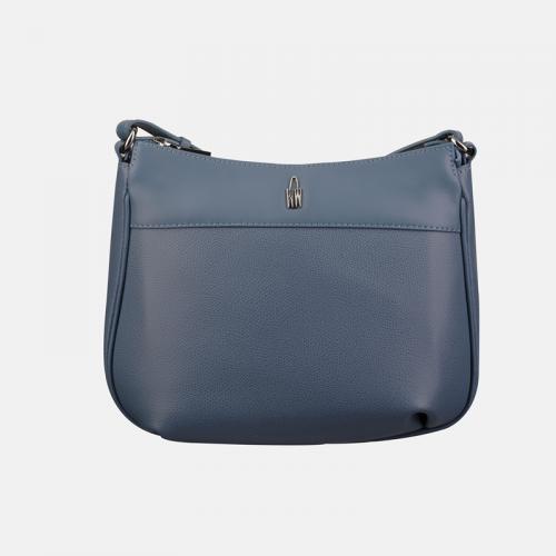 Niebieskoszara torebka skórzana