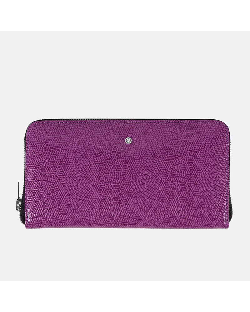 Fioletowy portfel skórzany