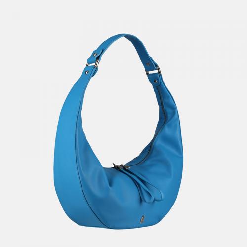 Niebieska torebka skórzana Moon