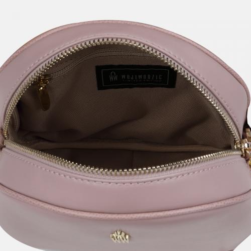 Różowa torebka skórzana Listonoszka Wojewodzic