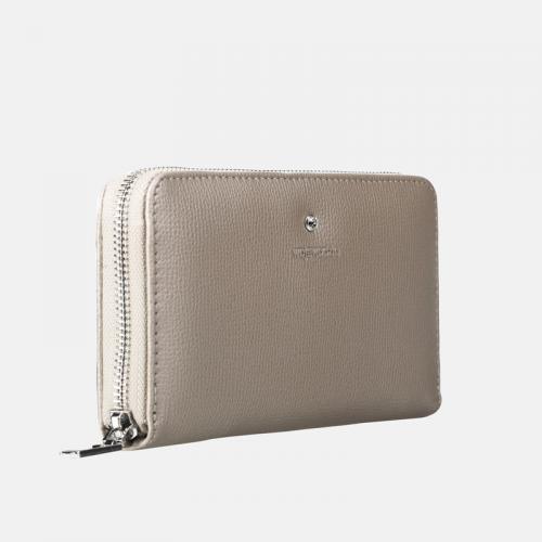 Złoty portfel skórzany