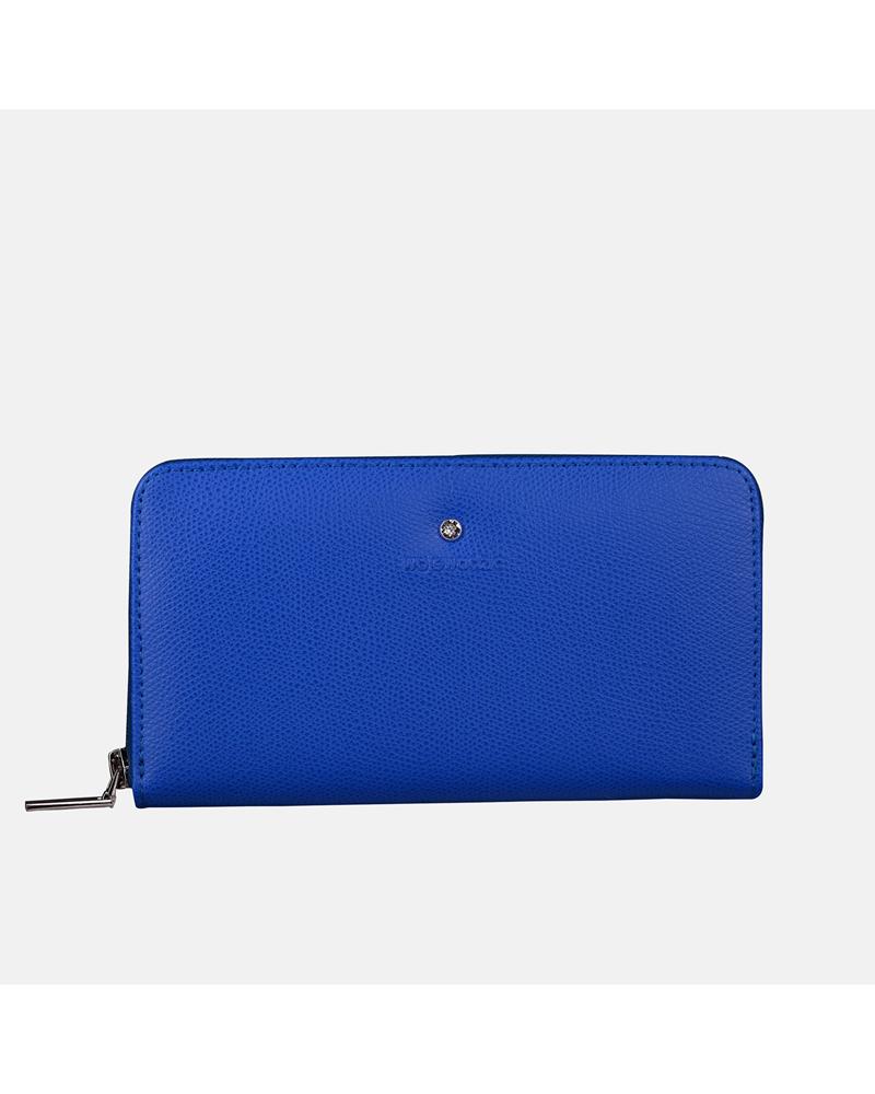 Niebieski portfel skórzany