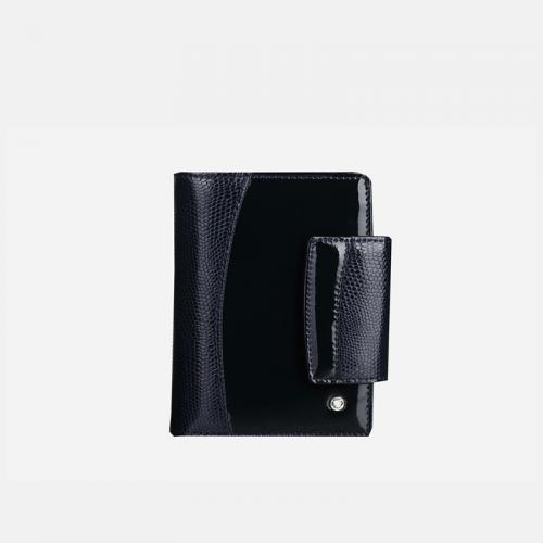 Granatowy portfel skórzany