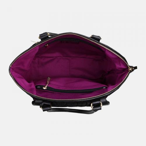Czarna torebka skórzana Shopper z kolekcji Gold