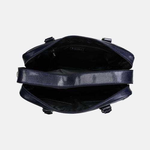 Granatowa torebka skórzana A4