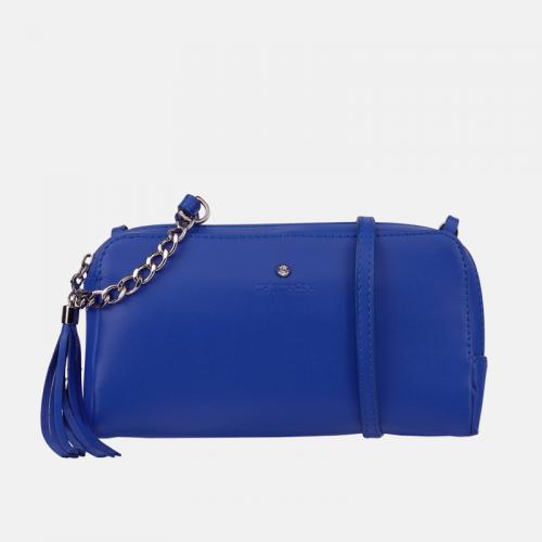 Niebieska mała torebka skórzana