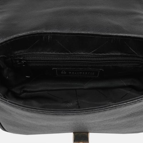 Wieczorowa torebka skórzana w kolorze czarnym