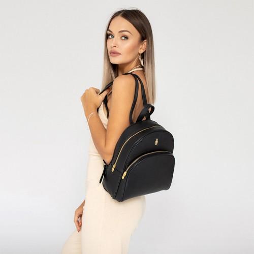 Plecak skórzany damski czarny